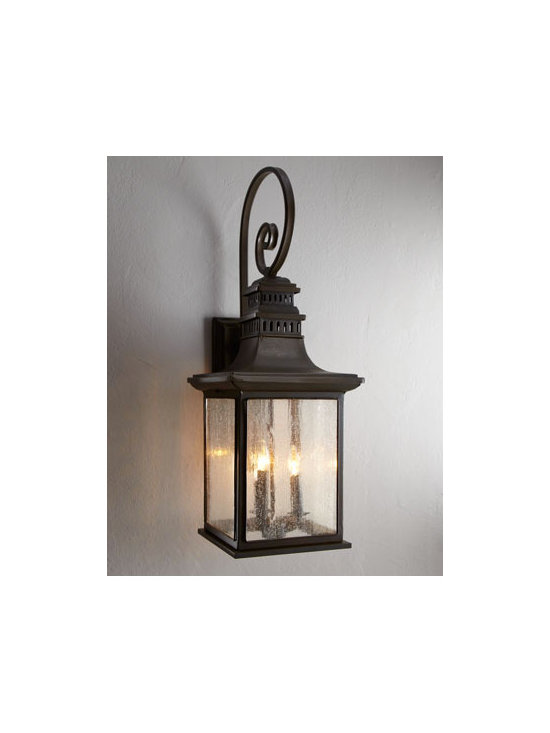 'Magnolia' Outdoor Sconce - Every outdoor space needs proper lighting so that you can continue using it into the evening. Why not install some seeded glass lanterns to light up your patio?