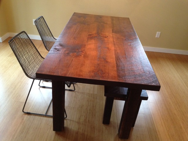 Rustic Pine Dining Room Table Amp Chairs The Lee Pine Wood, Dining Tables