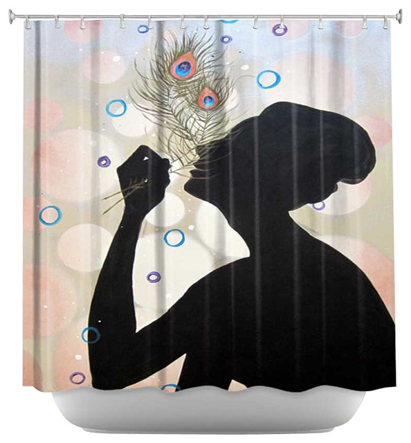 Shower Curtain Artistic - Oh How the Bubbly Was Flowing contemporary-shower-curtains