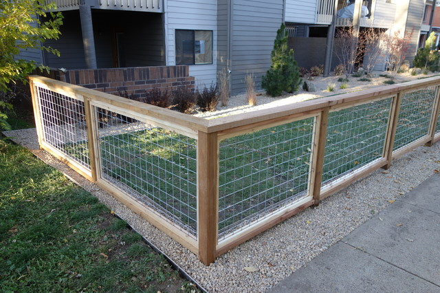 Welded Wire Fence - Contemporary - denver - by Turner ...