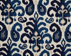 Suburban Rasul Ikat Fabric, Blue eclectic-fabric