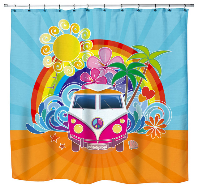 ... Themed Shower Curtain - Eclectic - Shower Curtains - by Surfer Bedding