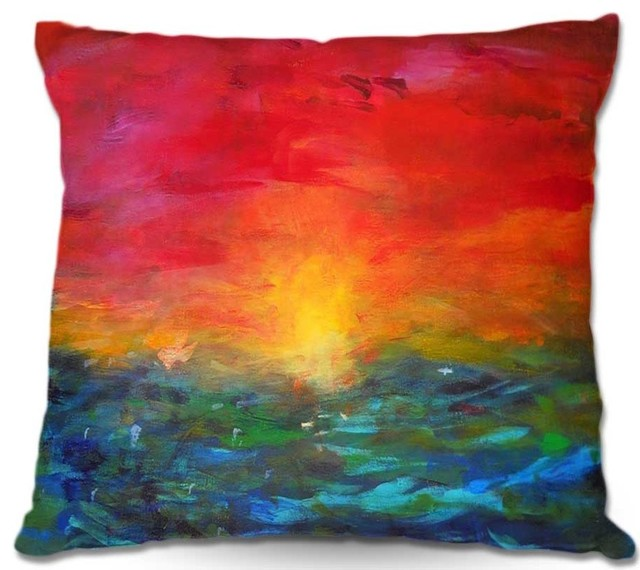 Pillow Linen - Jackie Phillips Rainbow Sunset contemporary-decorative-pillows