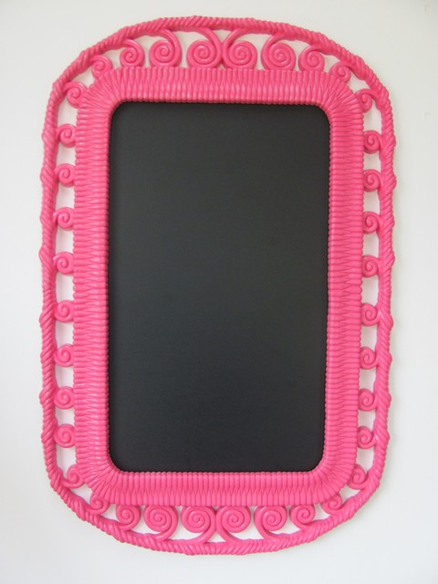 Hot Pink Chalkboard eclectic-home-decor