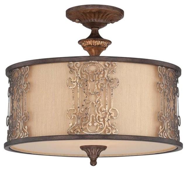 Savoy House-6-3952-3-124-Windsor - Three Light Semi-Flush Mount traditional-ceiling-lighting