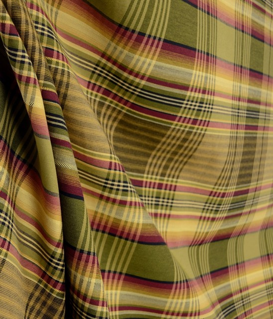 Anticipation 727 Soft Red Gold Green Plaid Fabric By The