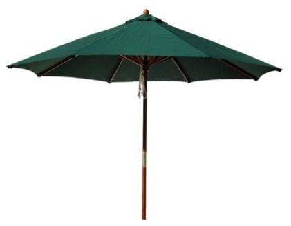 Round Pulley Patio Umbrella, Green contemporary-outdoor-umbrellas