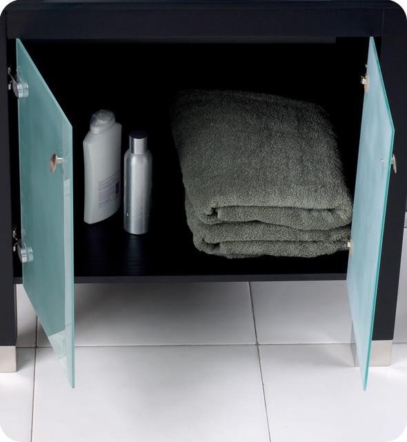 "31.5"" Emotivo Espresso Modern Bathroom Vanity with Mirror (FVN3328ES) modern"
