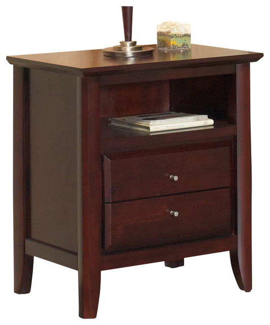 Modus City Ii Charging Station 2 Drawer Nightstand Coco