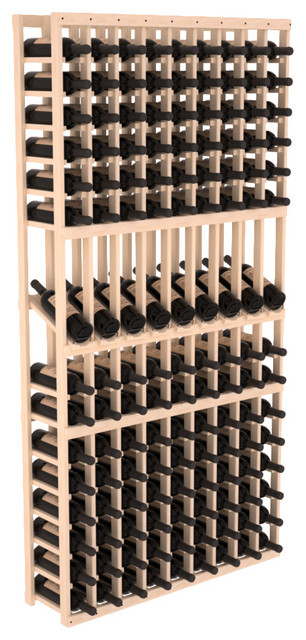 9 Column Display Row Wine Cellar Kit in Pine, (Unstained) contemporary-wine-racks