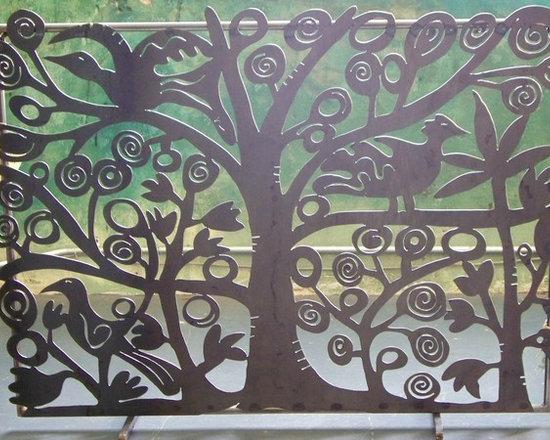 Tree of Life Fireplace Screen -