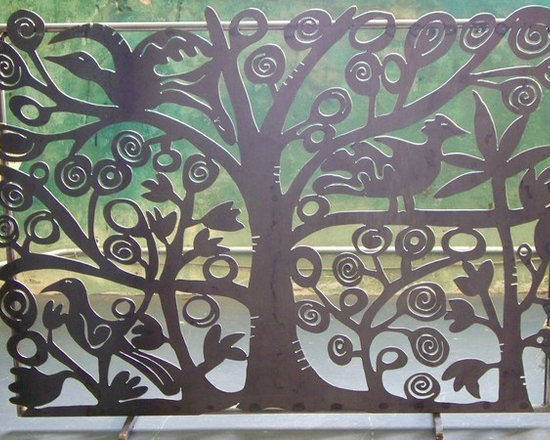 Tree of Life Fireplace Screen -