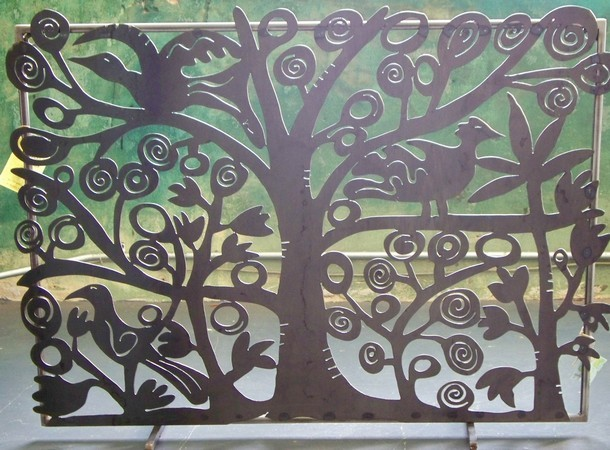 Tree of Life Fireplace Screen traditional-fireplace-accessories