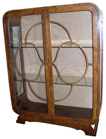 English Art Deco Curio Cabinet - Furniture - los angeles - by LA Vintage Furnishings