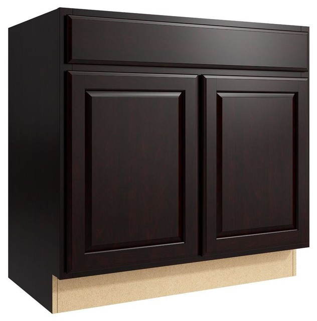 Cardell Cabinets Salvo 36 In W X 34 In H Vanity Cabinet Only In Coffee Brown Contemporary