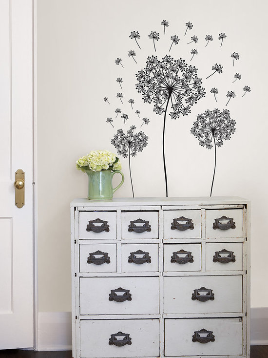 Dandelion Wall Art - A poetic wall embellishment from WallPops. This dandelion wall art kit comes with individual pieces so that you can arrange the dandelion scene however you like.