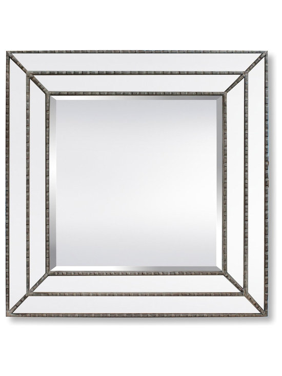 Garber corp - Calla Mirror, Transitional Double Glass Frame With Wood Wash Liners - This mirror is part of Garber collection. A transitional mirror with double glass frame & wood wash liners, this mirror has a great effect when you play with few pieces together on a wall, or just use on it's own. Garber specializesd in home decor items with an elegant look and high quality materials that will complete any project.