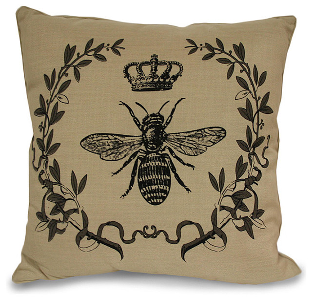 Royal Bee Pillow - Traditional - Decorative Pillows