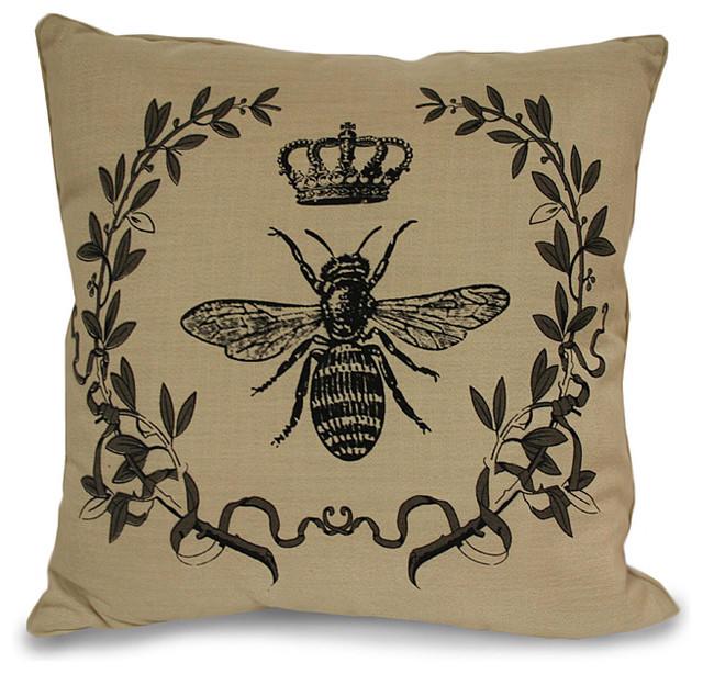 Traditional Decorative Pillows : Royal Bee Pillow - Traditional - Decorative Pillows