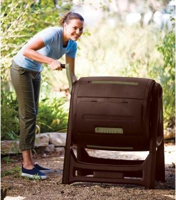 Keter Dynamic 60 Gallon Compost Tumbler modern-gardening-tools