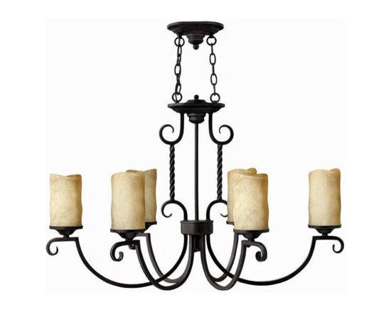 inkley Lighting 3508OL Oval 6 Light Chandelier Casa Collection -