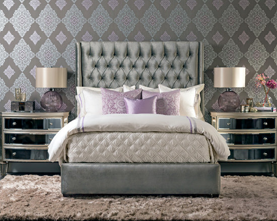 Luxury In Lavendar - Amelia Bed - The Amelia has never looked more spectacular in this glamorous vignette.