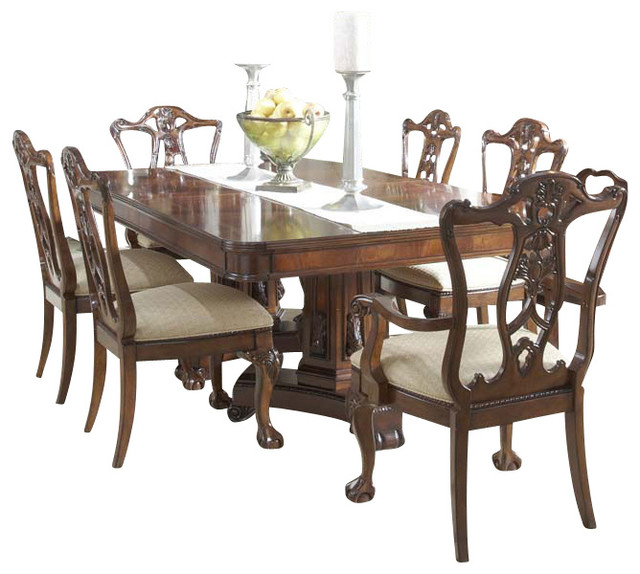 Antebellum Double Pedestal Dining Table Traditional Dining Tables By Carolina Rustica