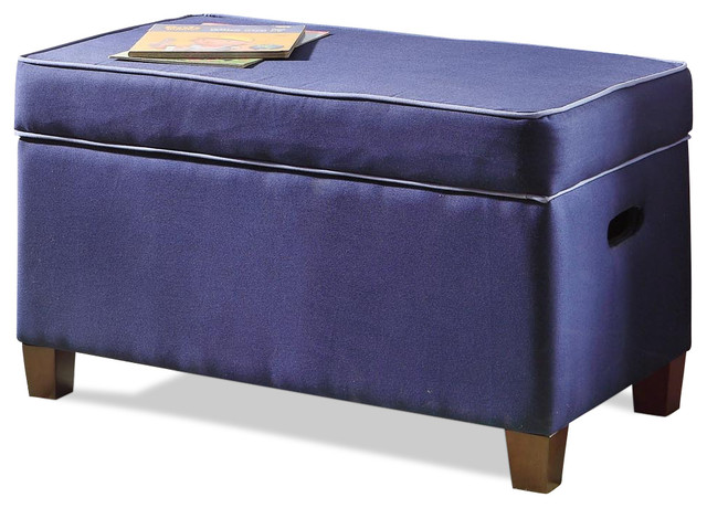 Juvenile Purple Storage Bench contemporary-upholstered-benches