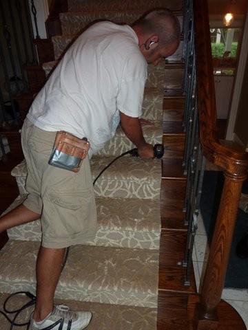 Stair Installation transitional-carpet-tiles