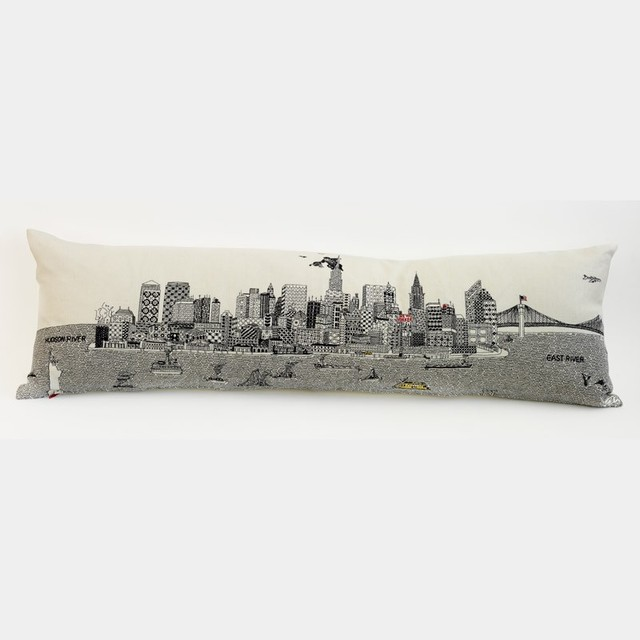 New York City Cushion eclectic-decorative-pillows