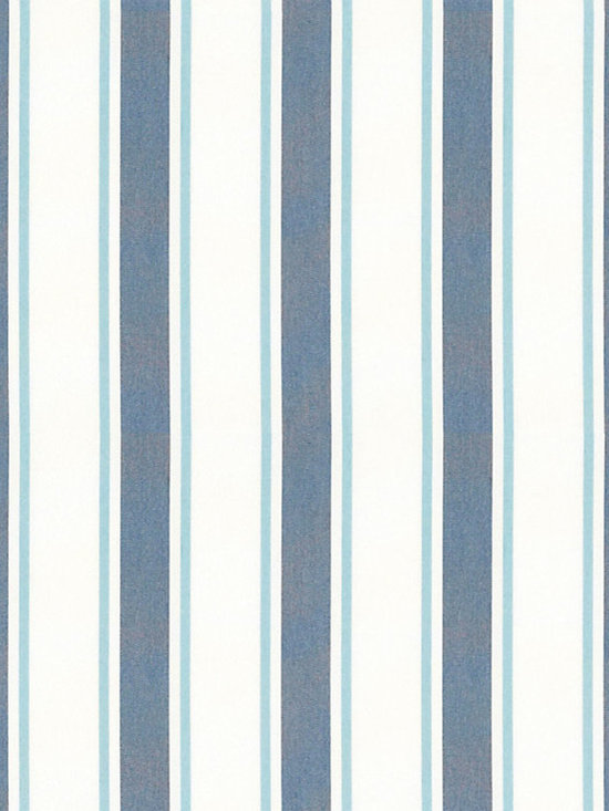 "Ballard Designs - Suzanne Kasler Nantucket Stripe Blue Sunbrella Fabric by the Yard - Content: 100% Acrylic. Repeat: non-railroaded fabric. Care: Machine wash warm, Mild soap. Width: 54"" wide. Blue, mineral & white stripes woven in a crisp canvas of washable, easy-care Sunbrella acrylic. Designed by Suzanne Kasler. . .  .  . Because fabrics are available in whole-yard increments only, please round your yardage up to the next whole number if your project calls for fractions of a yard. To order fabric for Ballard Customer's-Own-Material (COM) items, please refer to the order instructions provided for each product.Ballard offers free fabric swatches: $5.95 Shipping and Processing, ten swatch maximum. Sorry, cut fabric is non-returnable."