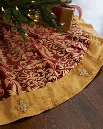Lili Alessandra Holiday Tree Skirt traditional-holiday-decorations