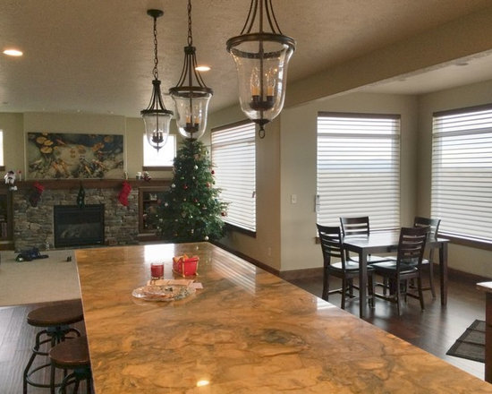 The coordinating Silhouettes tied in the open concept on the main level -