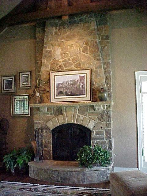 Stone Fireplace Traditional Indoor Fireplaces By Bennett Brothers Company