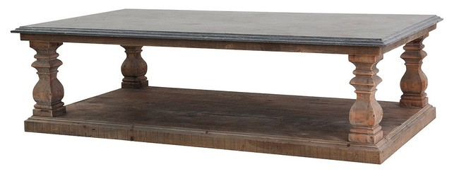 Bluestone Wesley Coffee Table 63 Quot Traditional Coffee Bluestone Coffee  Table