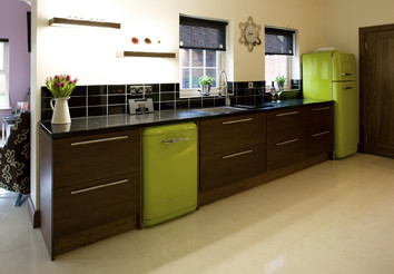 Green Smeg Kitchen - Contemporary - Kitchen Cabinetry - other metro - by Glenvale Kitchens