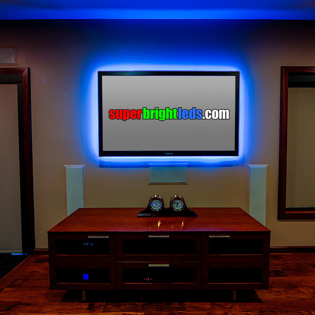 Led entertainment center and media room lighting modern Cool things to do with led strips