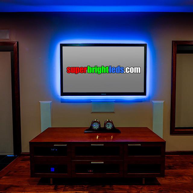 LED Entertainment Center And Media Room Lighting Modern