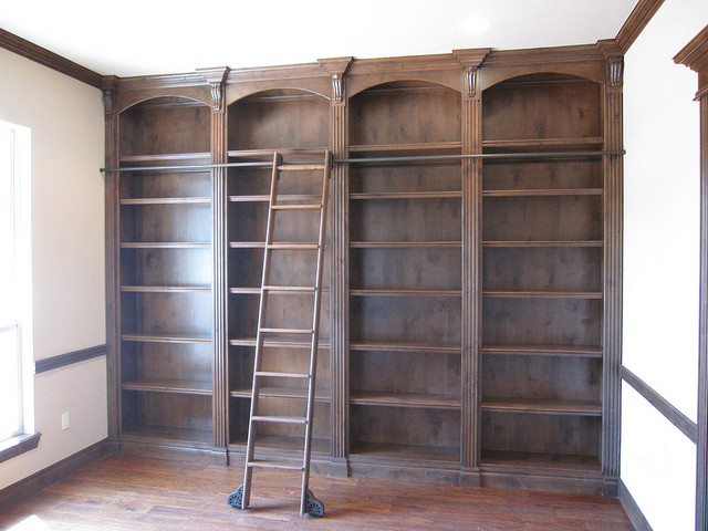 Rolling Library Ladders - Storage And Organization - by Custom Service Hardware, Inc