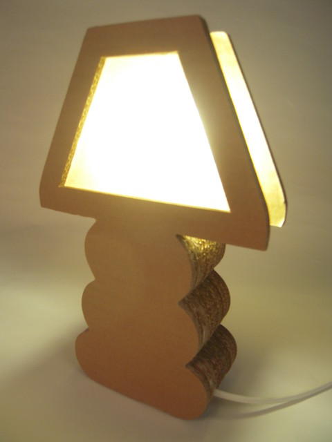 Cardboard Boho Lamps Contemporary Table Lamps Other