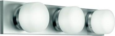 Illuminate your bathroom in style using the Kichler Circa 1046 Vanity - Brushed modern-bathroom-vanity-lighting