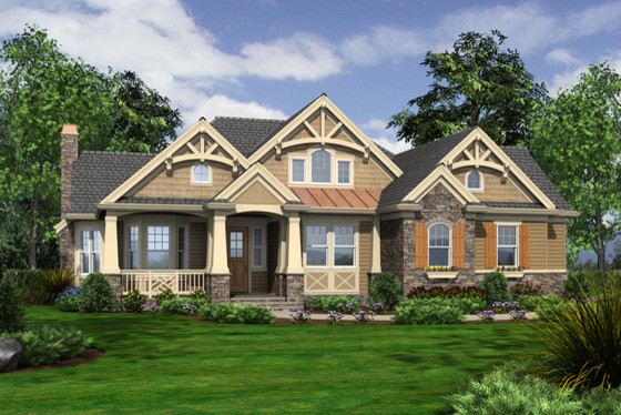 Front Elevation Traditional : House plan  traditional exterior elevation by