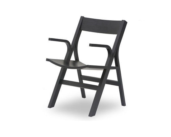 Bryght - Nes Ebony Wood Dining Armchair - The Nes dining armchair is an award winning, graceful bentwood design made from molded plywood, expertly veneered in hardwood. The Nes dining armchair perfectly brings together simplistic elegance with its smooth lines and a strong and sturdy sculptural design.