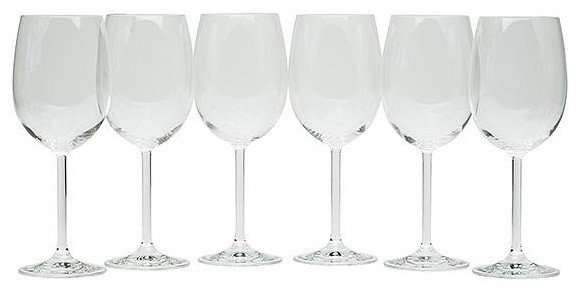 All-Purpose Wine Glasses - Set of 6 traditional-everyday-glassware