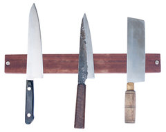 Makore Magnetic Knife Rack traditional-storage-and-organization