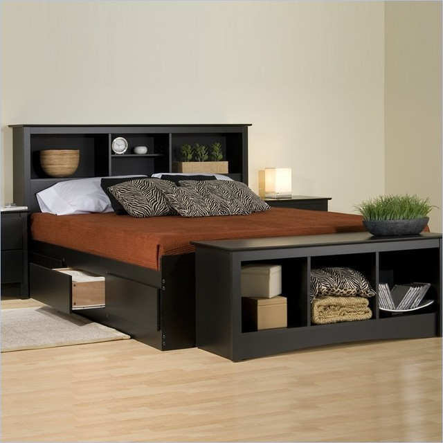 Prepac Sonoma Black Bookcase Platform Storage Bed with  : contemporary beds from www.houzz.com size 640 x 640 jpeg 67kB
