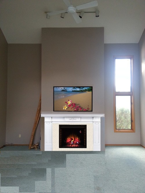 replacing a gas fireplace with electric - 28 images - akdy 33 in ...