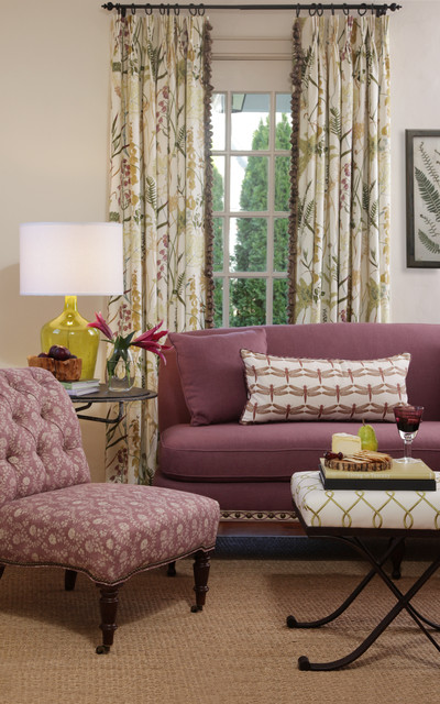Botanical Garden Fabric Collection traditional living room