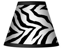 Classic Zebra Set of Four Shades 3x6x5 (Clip-On) - #44428-K3199 | LampsPlus.com
