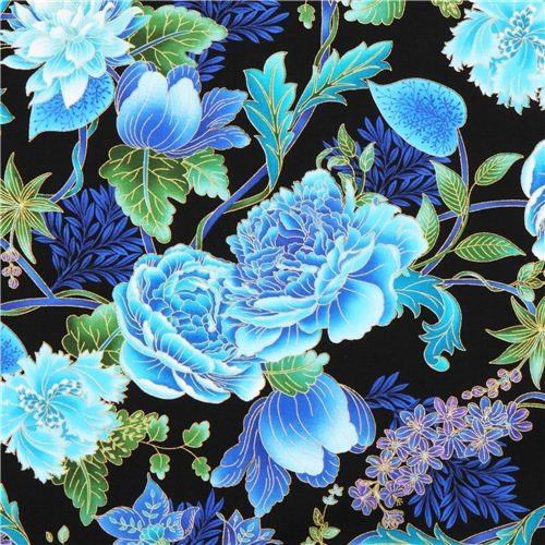 Black Flower Fabric Timeless Treasures Tree Of Life